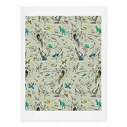 Deny Designs 11-Inch x 14-Inch Adventure Toile Art Print