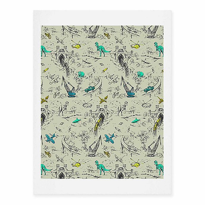 Alternate image 1 for Deny Designs 16-Inch x 20-Inch Adventure Toile Art Print