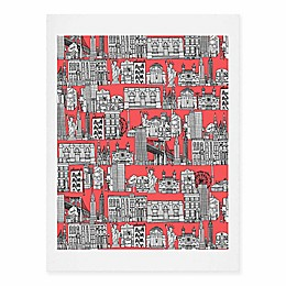 Deny Designs 11-Inch x 14-Inch New York Coral Art Print