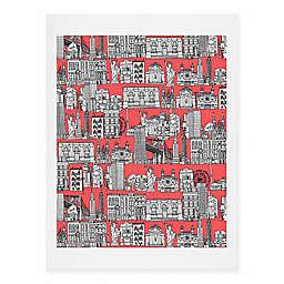 Deny Designs 16-Inch x 20-Inch New York Coral Art Print