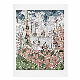 Deny Designs 11-Inch x 14-Inch Paris Map Under The Paris Sun Art Print