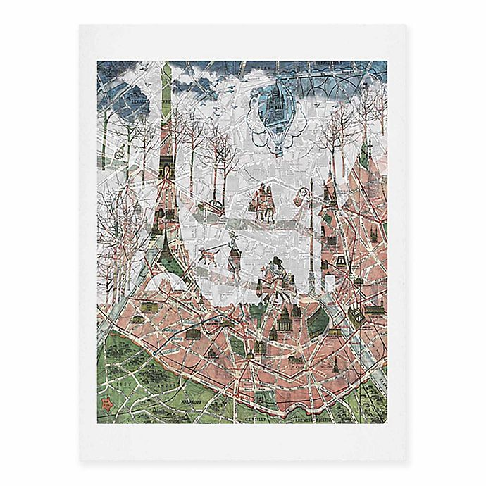 Alternate image 1 for Deny Designs 11-Inch x 14-Inch Paris Map Under The Paris Sun Art Print