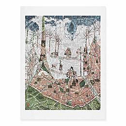 Deny Designs 18-Inch x 24-Inch Paris Map Under The Paris Sun Art Print