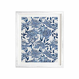 Deny Designs 11-Inch x 13-Inch Summertime Indigo Framed Wall Art