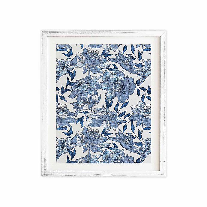 Alternate image 1 for Deny Designs 11-Inch x 13-Inch Summertime Indigo Framed Wall Art