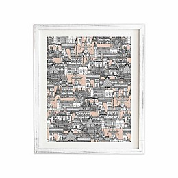 Deny Designs 11-Inch x 13-Inch Paris Toile Sugar Pink Framed Wall Art