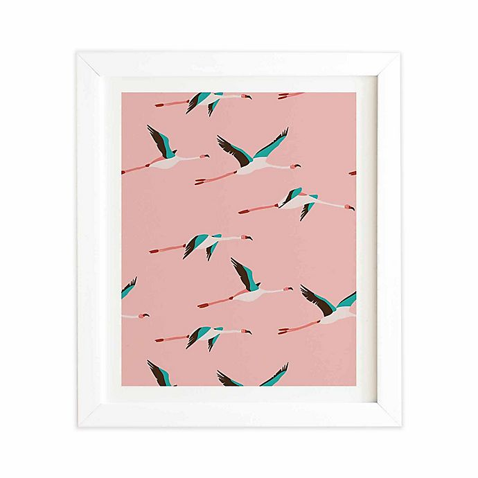 Alternate image 1 for Deny Designs 11-Inch x 13-Inch Flamingo Pink Framed Wall Art