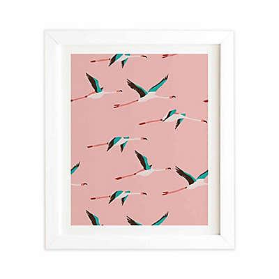Deny Designs 19-Inch x 22.4-Inch Flamingo Pink Framed Wall Art