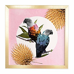 Deny Designs 20-Inch x 20-Inch Jolly Parrots Framed Wall Art