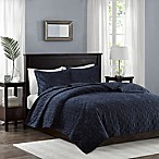 Madison Park Harper King/California King  Coverlet Set in Navy