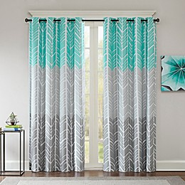 Intelligent Design Adel Printed Blackout 84-Inch Window Curtain Panel