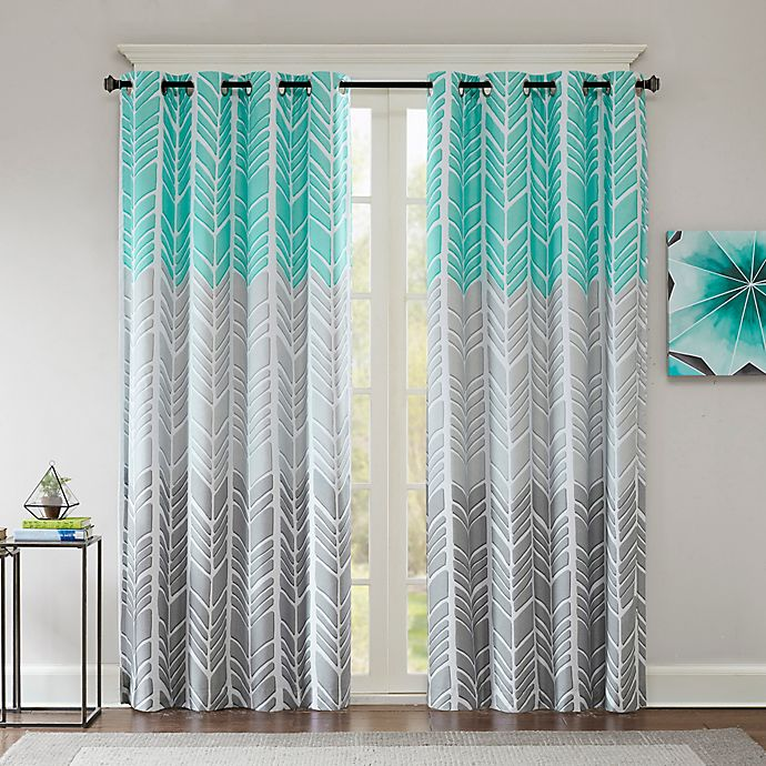 Alternate image 1 for Intelligent Design Adel Printed Blackout 84-Inch Window Curtain Panel