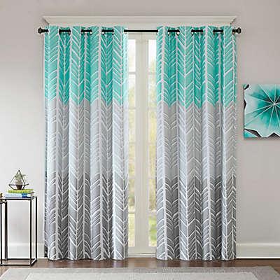 Intelligent Design Adel Printed Blackout 84-Inch Window Curtain Panel