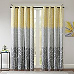 Intelligent Design Adel Printed Blackout 84-Inch Window Curtain Panel in Yellow