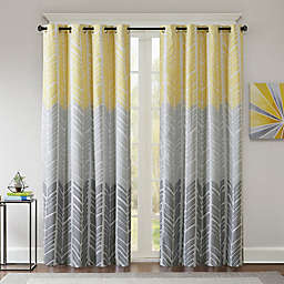 Intelligent Design Adel Printed Blackout 84-Inch Window Curtain Panel in Yellow (Single)