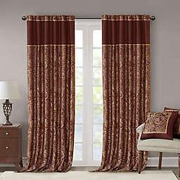Madison Park Aubrey 95-Inch Window Curtain Panels in Burgundy (Set of 2)