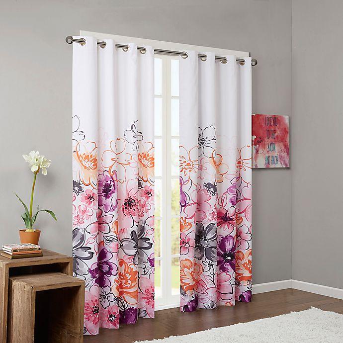 Alternate image 1 for Intelligent Design Olivia Printed Blackout 84-Inch Window Curtain Panel