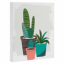 Deny Designs 16-Inch x 20-Inch Cactus Afternoon Canvas Wall Art