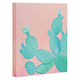 Deny Designs Pastel Cactus Canvas Wall Art