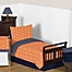 Part of the Sweet Jojo Designs Arrow Bedding Collection in Orange/Navy
