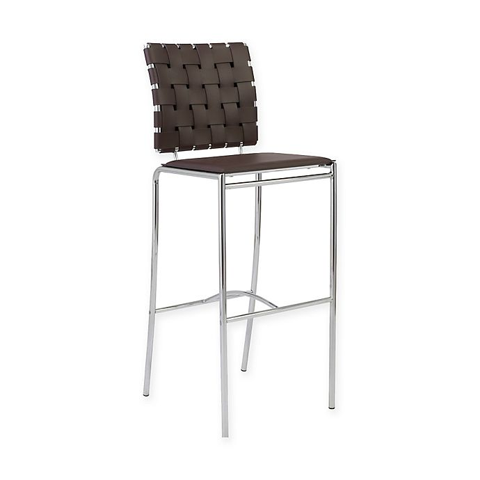 Alternate image 1 for Eurostyle™ Carina Bar Stools in Brown/Chrome (Set of 2)