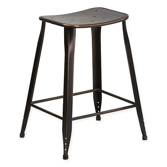 Incredible Flash Furniture Backless Distressed Metal Indoor Outdoor Spiritservingveterans Wood Chair Design Ideas Spiritservingveteransorg