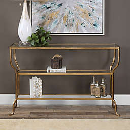 Uttermost Deline Console Table in Gold