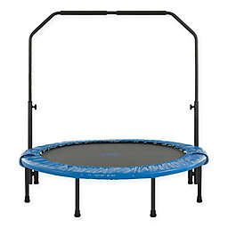 Upper Bounce 48-Inch Mini Rebounder Foldable Trampoline with Handrail