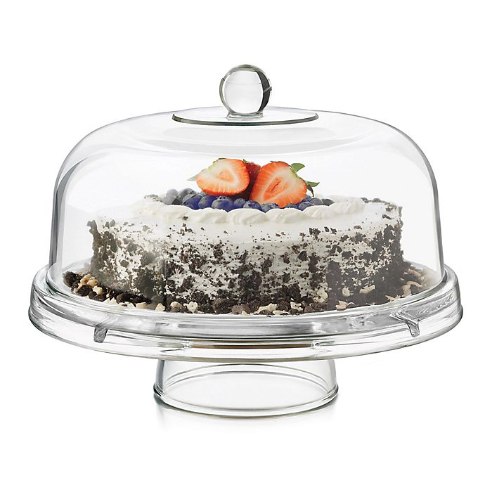 Alternate image 1 for Dailyware™ Glass 6-in-1 Footed Cake Dome