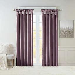 Madison Park Emilia 108-Inch Twist Tab Top Window Curtain Panel in Purple (Single)