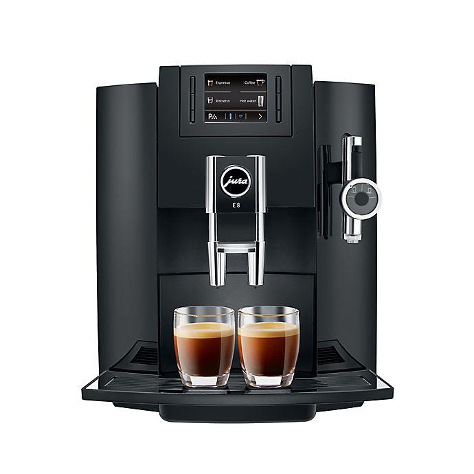 Alternate image 1 for Jura® E8 Fully Automatic Coffee Machine in Piano Black
