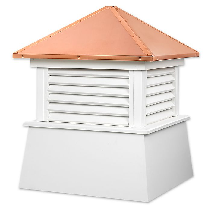 Alternate image 1 for Good Directions Manchester® 93-Inch Cupola in White/Copper