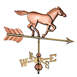 Good Directions Horse Cottage Weathervane with Roof Mount in Polished Copper