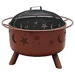 Landmann USA 29-Inch Big Sky Stars & Moons Fire Pit in Clay