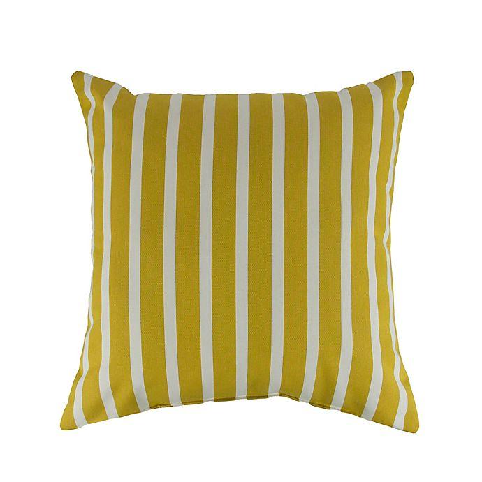 Alternate image 1 for Austin Horn Classics Sunbrella® Solana 18-Inch Square Throw Pillow in Yellow