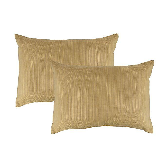 Alternate image 1 for Austin Horn Classics Sunbrella® Southampton Oblong Throw Pillow in Gold