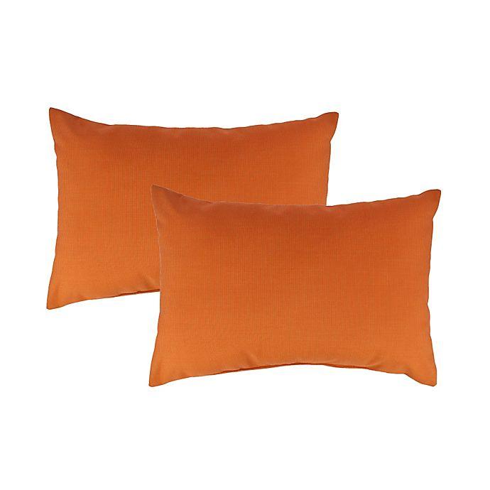 Alternate image 1 for Austin Horn Classics Sunbrella® Daytona Oblong Throw Pillow in Orange