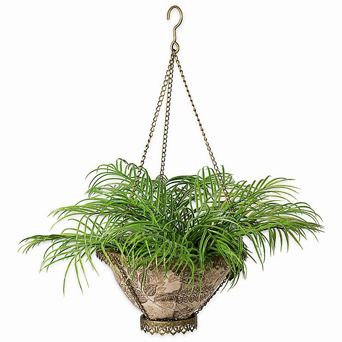 Alternate image 1 for Bombay® Outdoor Avignon Hanging Fabric Planter with Liner