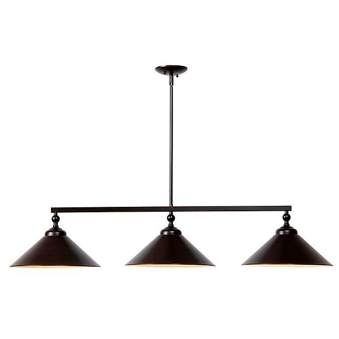 Alternate image 1 for Kenroy Home Conical 3-Light Pendant in Bronze