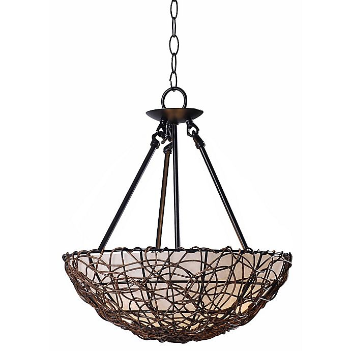 Kenroy Home Thicket 3 Light Semi Flush Mount Light Fixture In Natural Wood Bed Bath Amp Beyond