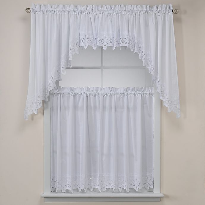 Alternate image 1 for Kaitlyn Kitchen Window Curtain Tiers