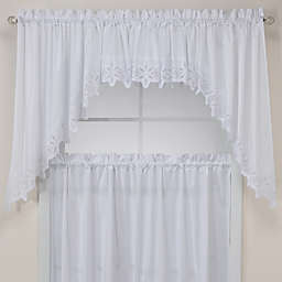 Kaitlyn Kitchen Window Curtain Valance in White