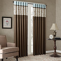 Madison Park Serene Embroidered 84-Inch Window Curtain Panel