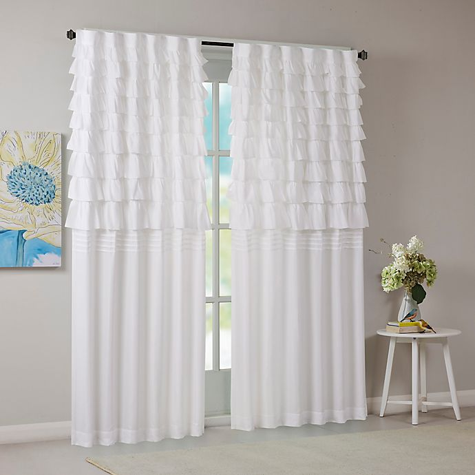 Alternate image 1 for Intelligent Design Waterfall Ruched 63-Inch Window Curtain Panel