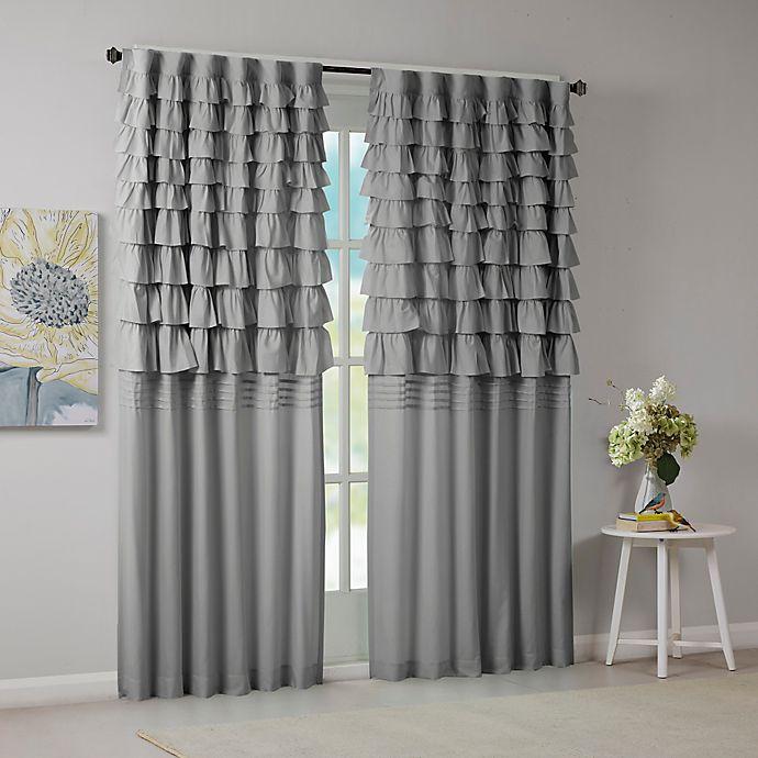 Buy Intelligent Design Waterfall Ruched 84 Inch Window