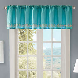 Madison Park Nisha Cotton Embroidered Valance