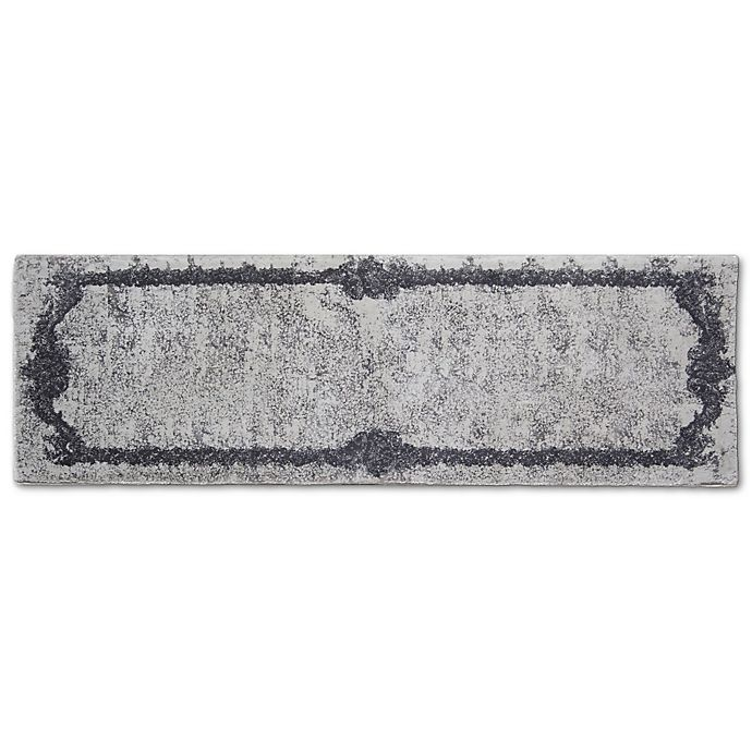 Alternate image 1 for Artifaq Tulos 24-Inch x 72-Inch Accent Rug in Grey