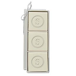Eco-Luxury Mini Hostess 4 oz. Square Aqua Mineral Bar Soap (Set of 3)