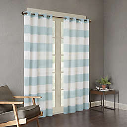 Urban Habitat Mason Yarn Dyed Woven Sheer Window Curtain Panel