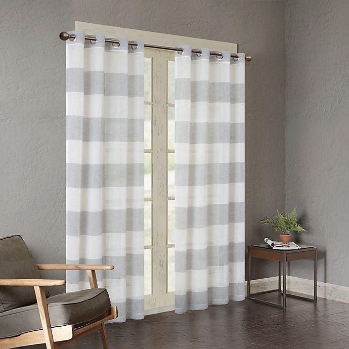 Alternate image 1 for Urban Habitat Mason Yarn Dyed Woven Sheer 84-Inch Window Curtain Panel in Grey